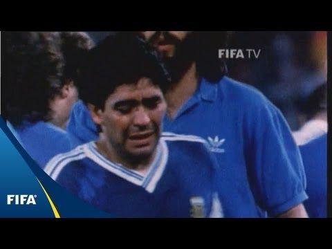 maradona crying